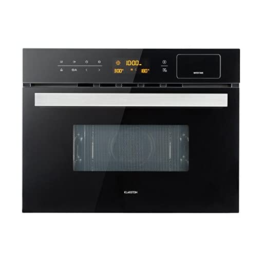 Klarstein Luminance Steam Microonde Forno a Microonde ad Incasso ...