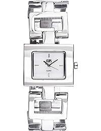 Clips 553-2003-88 - Reloj de pulsera mujer, aleación, color plateado