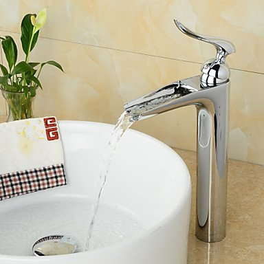 KYDJ American Standard Centerset Single Handle One Hole in Chrome Bathroom Sink Faucet