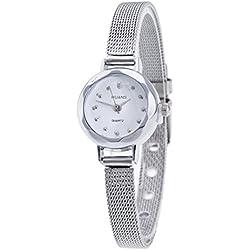 WINWINTOM Women Stainless Steel Mesh Band Wrist Watch