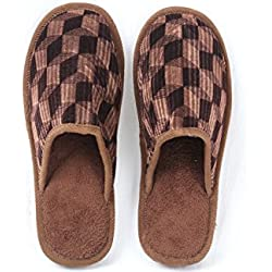 R&M Unisex Home Slippers and Flip-Flops (40/41, brown)
