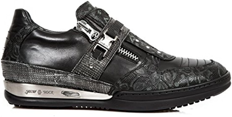 New Rock Boots M.HY033 C2 Urban Hardrock Punk Herren Sicherheits Sportschuhe Schwarz