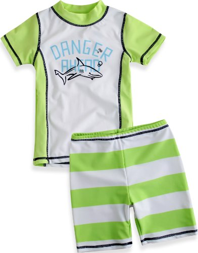 Vaenait Baby Boys 74-110 Short Sleeve Swimsuit Swim Trunks 2 Pieces Set Shark Green XS (Shark Trunks Swim)