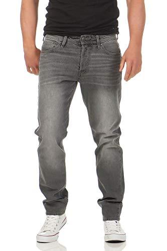 Comfort Fit Herren Jeans (JACK & JONES - Mike ORIGINAL - Comfort Fit - Herren Jeans Hose, Hosengröße:W34/L34, Farbe:Grau (Grey Denim))