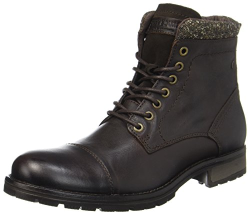 JACK & JONES Herren JFWMARLY Leather Bison Klassische Stiefel, Braun, 43 EU
