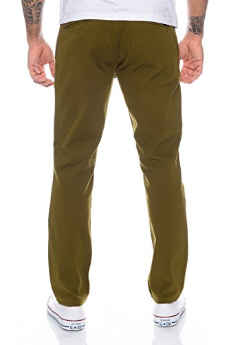 Rock Creek Herren Designer Chino Hose Regular Slim Chinohose W29-W40 RC-390 Olive