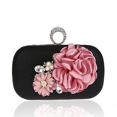 Damenmode Blumen am Bankett Tasche ring Tasche Abendtaschen Black