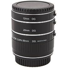 Anillo alargador automático profesional para objetivos Canon (macro, 3 piezas: 12mm, 20mm, 36 mm, compatible con EOS 1Ds Mark II, EOS1Ds, EOS 1D Mark III, EOS 1D Mark II N, EOS 1D Mark II, EOS 5D, EOS 10D, EOS 20D, EOS 30D, EOS 40D, EOS 50D, EOS 300D, EOS 350D, EOS 400D, EOS 450D, EOS 1000D)