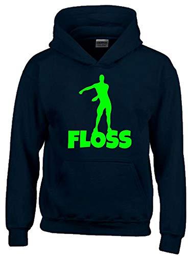 Floss Hoodie Sweatshirt mit Kapuze schwarz-Green Gr.140 cm