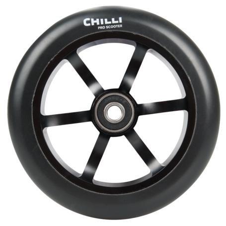 Chilli Pro Stunt-scooter Rolle Roller Wheel 120mm 6 Spoked schwarz