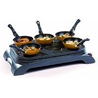 Domo DO8706W fondue, gourmet y wok - Accesorio de cocina (Negro, 50 Hz, 220-240 V)