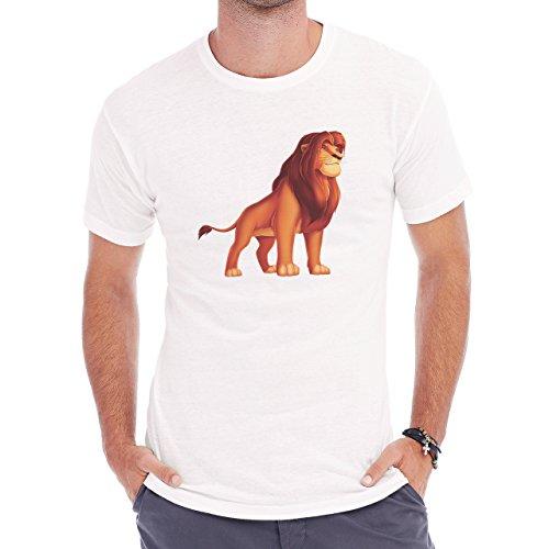 King_Lion_Cartoon_PNG_Picture Herren T-Shirt Weiß