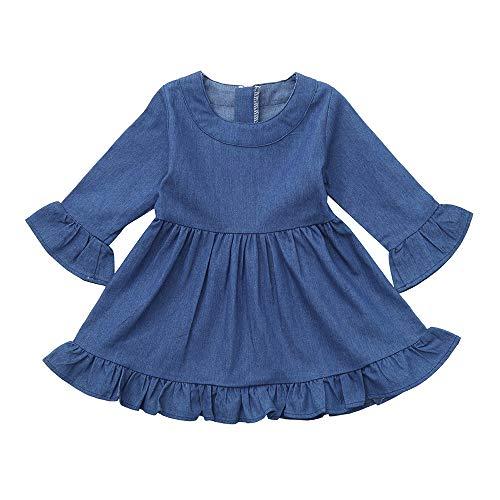 56c497952 Vestido Vaquero de Princesa Manga Larga para Bebe Niña Invierno Recien  Nacido 6 Meses – 3