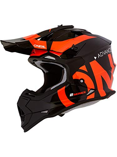 Oneal 2SRS Youth Helmet Slick Black/Orange M (51/52 cm) Casco, Adultos Unisex