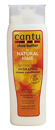 Cantu - Feuchtigkeitsspendende Spülung mit Sheabutter - Sulfatfreie Pflege-Spülung für Locken und strukturiertes Haar - 1er Pack (1 x 400ml) -