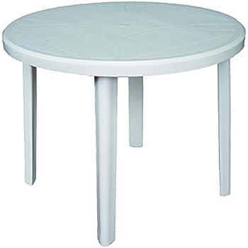 Jardin, terrasse Tables Table de jardin Lisa Ø 90 cm vert plastique