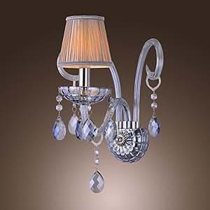 Artisitc applique murale avec Tissu Ombre Blue Water Crystal Chandelier Feature Corne de verre