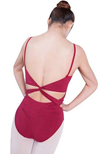 Zkoo senza maniche splice abiti da ballo adulti donne pannello esterno di danza rosso s