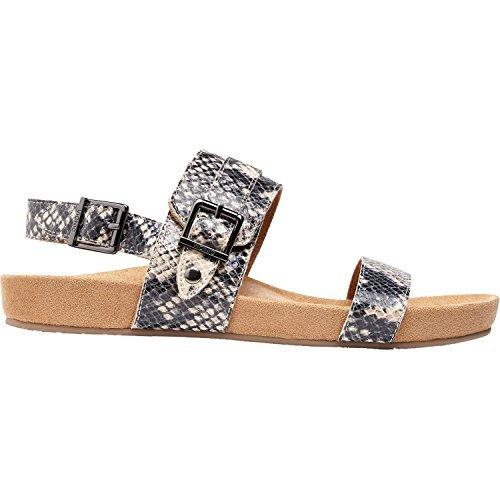 Vionic Womens Grace Samar Leather Sandals Shiny Snake Cream