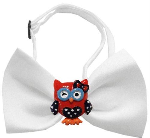 White Owl Kostüm - Patriotic Owls Chipper White Bow Tie
