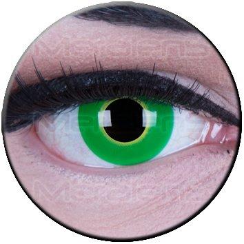 Kostüm Halloween farbige grüne hellgrüne Kontaktlinsen crazy Kontaktlinsen crazy contact lenses Ectoplasma 1 Paar. Mit Linsenbehälter + 60ml Pflegemittel