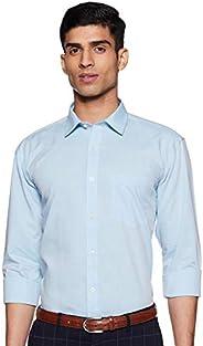 Amazon Brand - Symbol Men's Solid Regular Fit Full Sleeve Formal S