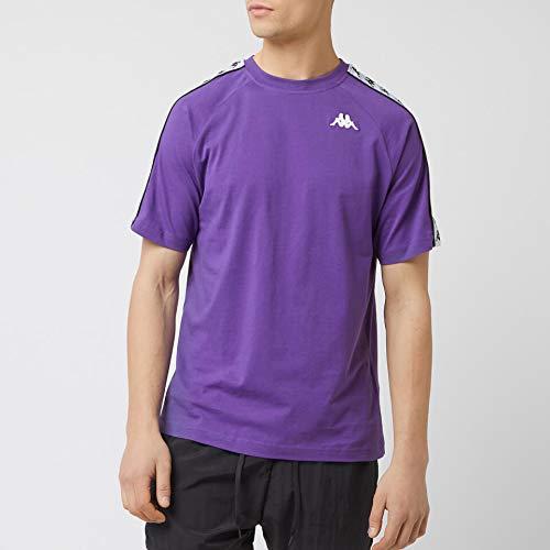Kappa Coen Camiseta, Hombre, Violeta/Blanco/Negro