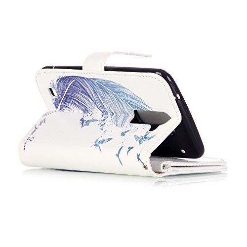 Custodia LG K10, Sunroyal® Custodia in Pelle, in Piedi la Vista Diario Custodia Copertura di Vibrazione Portafoglio Flip Cover con Chiusura Magnetica per LG K10 (5.3 pollici) (Dente di leone Viola) Modello 08