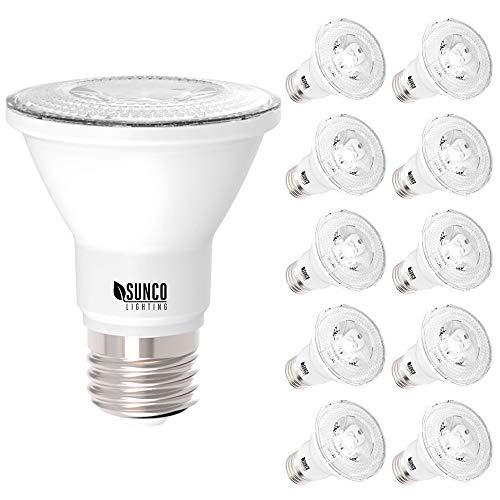Sunco Beleuchtung 10Pack-PAR20LED 7Watt (entspricht 50W), 3000K warmweiß, Beleuchtung-dimmable-, 470Lumen, Flutlicht bulb- UL Listed