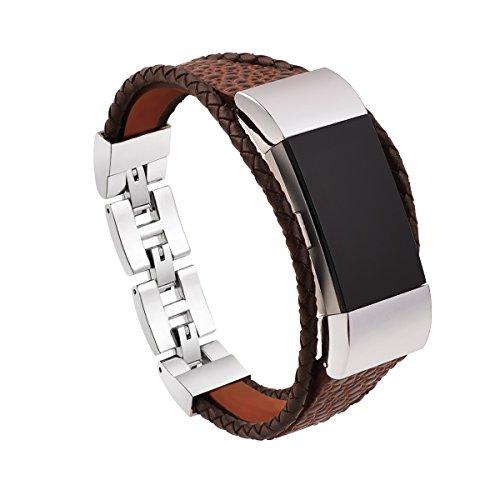 Armband f¨¹r Fitbit Charge 2, mtsugar Armb?nder Echte Leder Ersatz-band zubeh?r f¨¹r Fitbit Charge 2