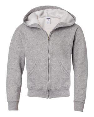 Youth 8 oz. NuBlend� Fleece Full-Zip Hood OXFORD L (Jerzees-fleece-oxfords)