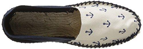 Cala Unisex-Erwachsene Classique 2 Espadrilles Bleu (Ancre Broderie)