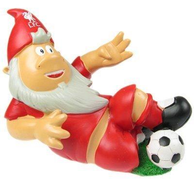 Gartenzwerg mit Fußball und Liverpool FC Design