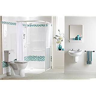 AKW Heavy Duty Shower Curtain 1800mm x 1800mm - White