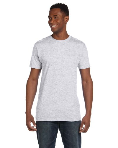 Hanes 4980 Mens 2 Pack Nano T-Shirt 1 Ash + 1 Smoke Grey 1 Ash + 1 Smoke Grey