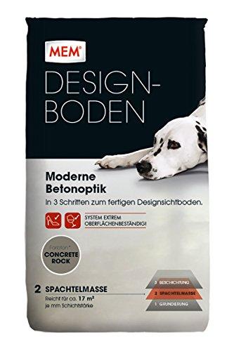 MEM Bauchemie GmbH MEM Designboden Spachtelmasse 25 kg Concrete Rock