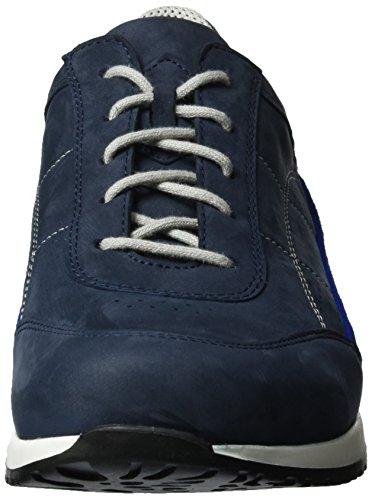 Waldläufer Haleria, Chaussures à Lacets Femme Mehrfarbig (marine electr. Weiss)