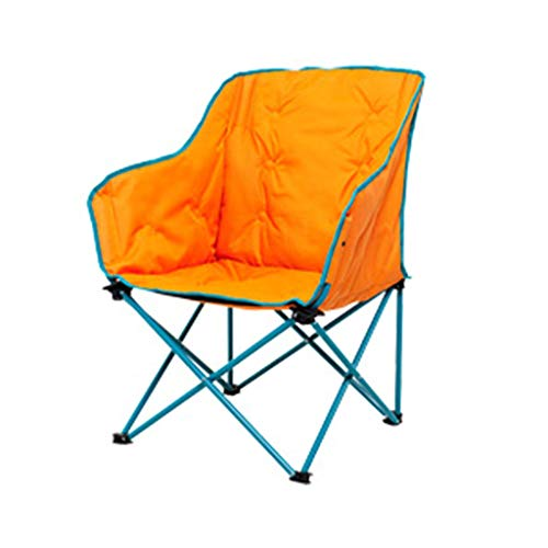 KAI LE Sofa Chair Small Fishing Rod Fishing Chair Back Folding Chair Widening Seat Large Backrest Folding Chair (Color : Apricot)