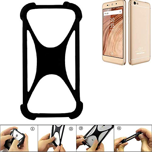 K-S-Trade Handyhülle für Blaupunkt SL02 Schutz Hülle Silikon Bumper Cover Case Silikoncase TPU Softcase Schutzhülle Smartphone Stoßschutz, schwarz (1x)