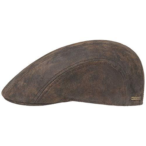 r Flatcap Herren | Ledercap im Vintage-Stil | Schirmmütze mit Innenfutter aus Baumwolle | Mütze Sommer/Winter | Schiebermütze braun S (54-55 cm) ()