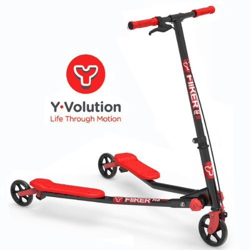 Yvolution A3 Air Y Fliker Kids Scooter - Black/Red