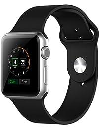 Apple Watch Correa, JETech 38mm Silicona Suave Reemplazo de Banda Sport Band para Apple Watch Todos los Modelos 38mm (Negro)