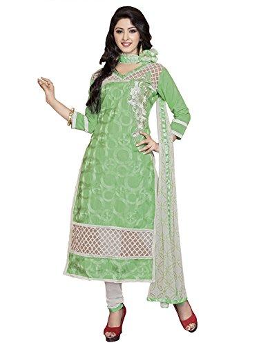 Kanchnar Women'S Cotton Un-Stitched Embroidered Party Wear Salwar Kameez Suit Dress Material...