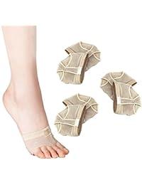 Pixnor 3 pares de Ballet profesional danza del vientre parte delantera cojines cojines fundas - talla M