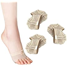 LEORX 3pares de almohadillas para Ballet, para metatarso, bola del pie, antepié–talla M