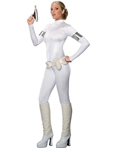 Star Wars Padme Amidala Damenkostüm Lizenzware weiss ()