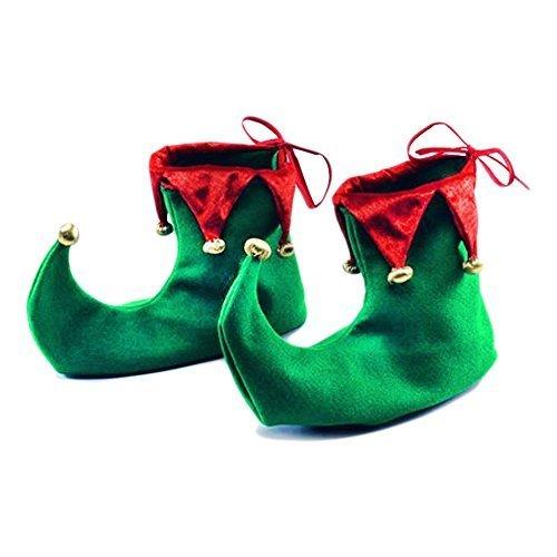 Elfen Schuhe Filz (Weihnachts-Kostüm Elf Shoes spitz, Kostümzubehör)