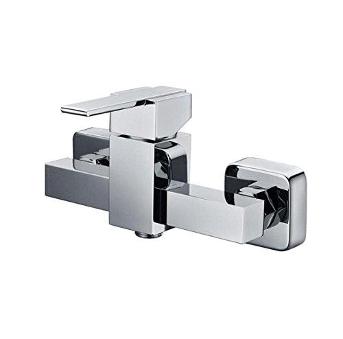 Hotel Home foro singolo doccia fredda/calda Rubinetti vasca rubinetto montato a parete, cromatura , (Fiore Fontana Parete)