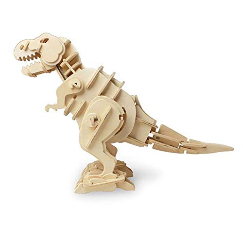 Exquisite Bausteine Walking Roaring T-Rex 3D Holzpuzzle Dinosaurier Sound Control Puzzle Roboter Spielzeug Woodcraft Bau Kit Perfekte Alter 6 + Jungen Mädchen Weihnachten Geburtstagsgeschenk für Kinde