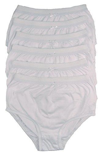 Damen 6 paar voll Baumwolle Slip in Farbauswahl 36-54